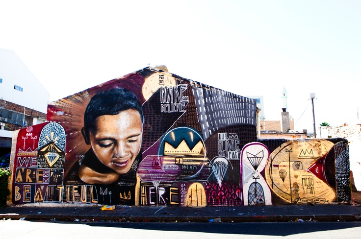 I Art SA Community Mural Project - Lower Woodstock, Cape Town, South Africa #Street #Art