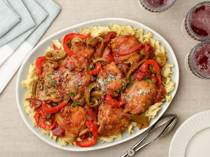 Chicken Cacciatore recipe from Ree Drummond via Food Network