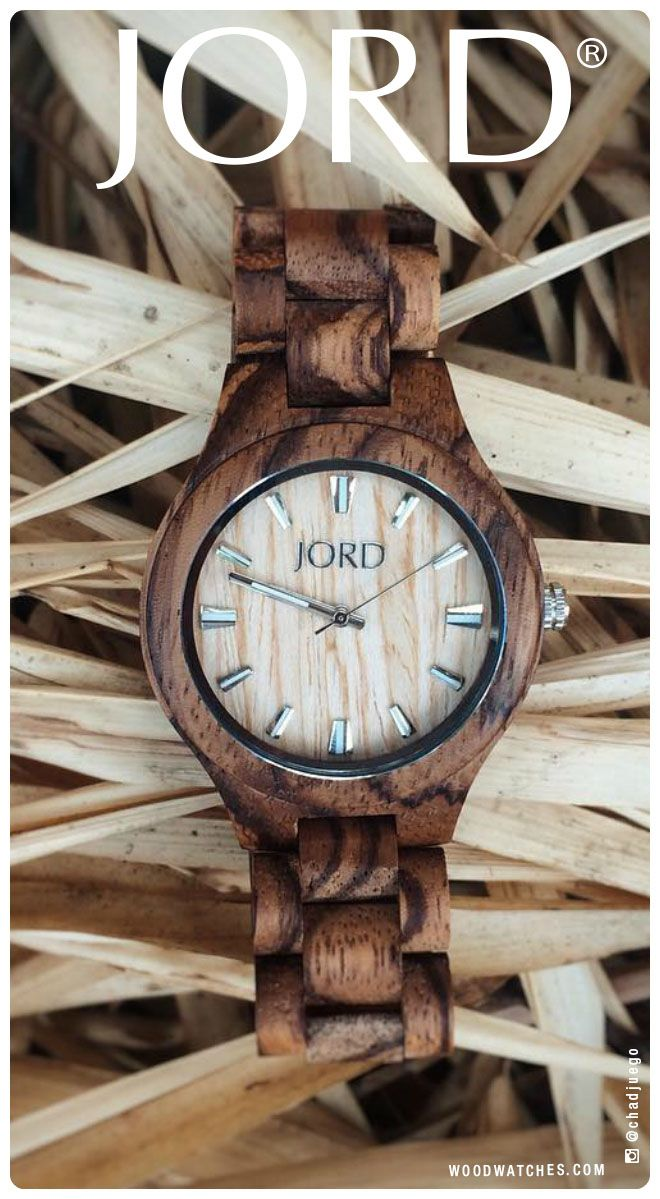 Turn your style ever so slightly to the wild side with JORD's Fieldcrest in intricately grained Zebrawood. Find our full line at www.woodwatches.com, free shipping in the US!