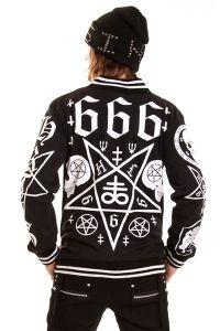Boys Gothic Jacket im Uni Style - Triple Six
