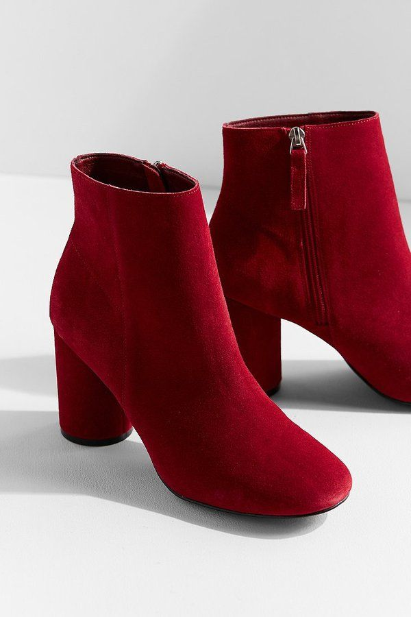 Urban Outfitters Sabrina Maroon Red Round Heel Cute Casual Suede Ankle Boot | Fall Boots 2017 Women's Shoes booties2017 outfits fall