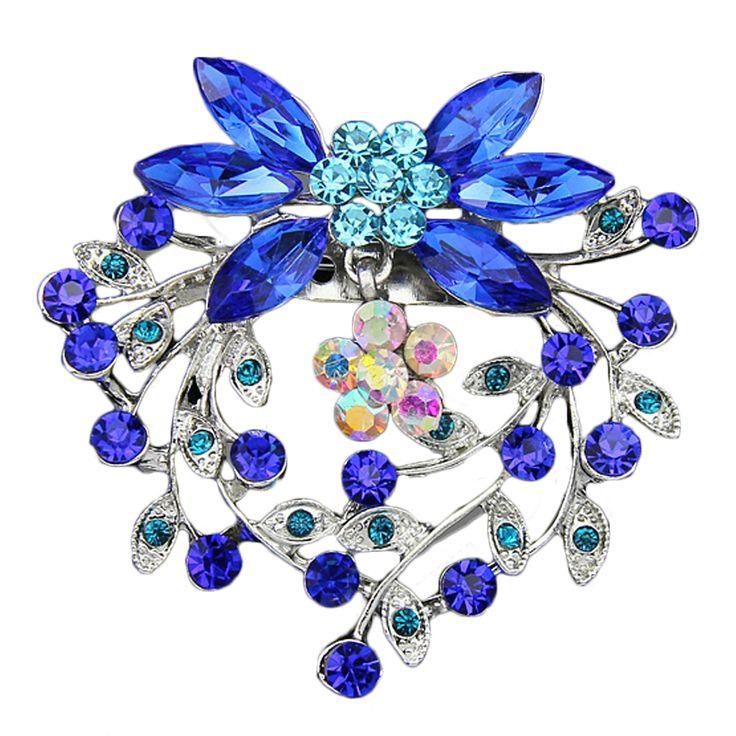 Carino Strass Di Cristallo Femminile Spilla Bouquet Da Sposa Gioielli Moda In Argento Spilla Pins Per Le Donne