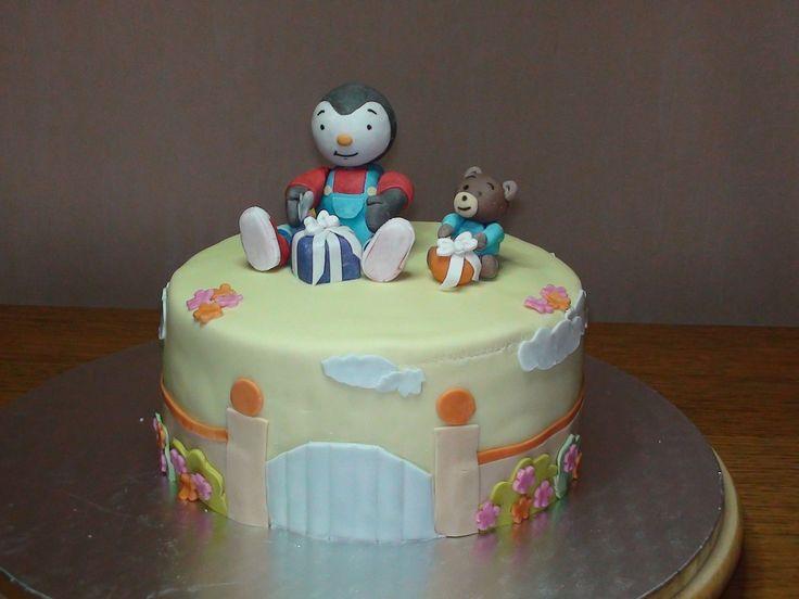 Gâteau 3D T'choupi&Doudou