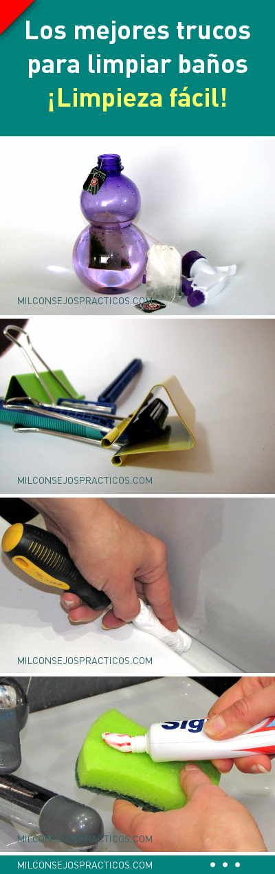 Los mejores trucos para limpiar baños. ¡Limpieza fácil!
