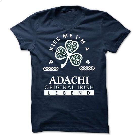 ADACHI - Kiss Me Im Team - #tshirt blanket #hoodie style. CHECK PRICE => https://www.sunfrog.com/Valentines/-ADACHI--Kiss-Me-Im-Team.html?68278