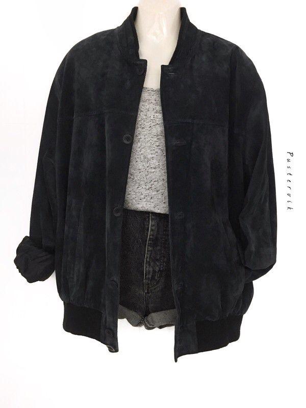 Mein Wildleder Oversize Blouson Bomber Jacke Lederjacke Urban Street Style  von true vintage! Größe Uni für 65,00 €. Sieh´s dir an: www.kleiderk…