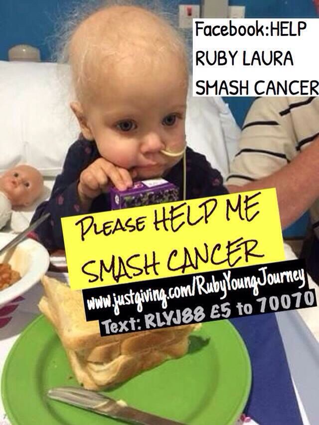 Please do what you can for Ruby Laura, she needs to raise funds for treatment of a rare childhood cancer. Details of how you can help are on the photo, check her out on Facebook and twitter. xx