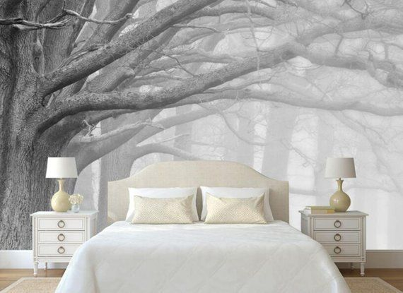 Sketch Wallpaper Living Room Bedroom Murals Modern Black and White Forest Tree Art TV Wall Murals wallpaper for Walls