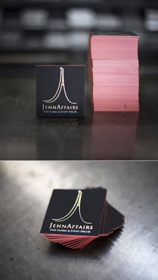 Foil stamped business card square - http://www.bce-online.com/en/