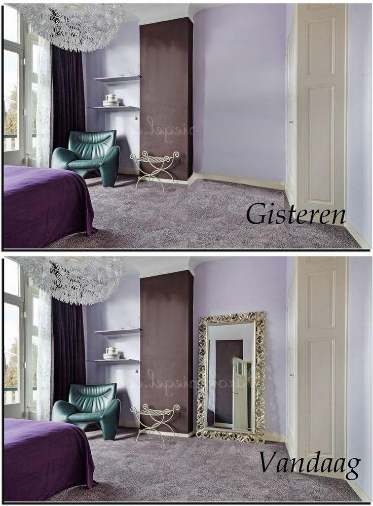 Een grote spiegel voor een kleine metamorfose in de slaapkamer grote spiegels pinterest - Grote woonkamer design spiegel ...