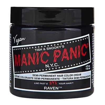 manic panic semi permanent hair color cream raven 118ml - Semi Permanent Coloration