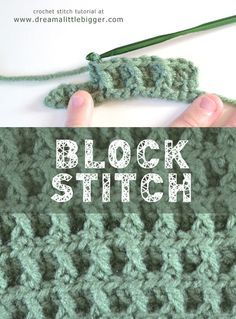 Want a simple but impressive crochet pattern? Block crochet uses simple stitches in an easy to follow pattern for very intricate looking�