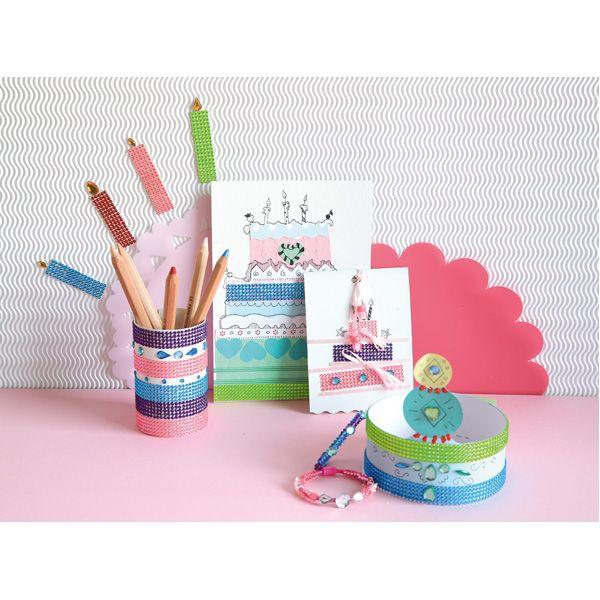 Tęczowe ozdoby DIY  http://www.mojebambino.pl/tasmy-dekoracyjne/914-teczowe-tasmy-do-ozdabiania.html