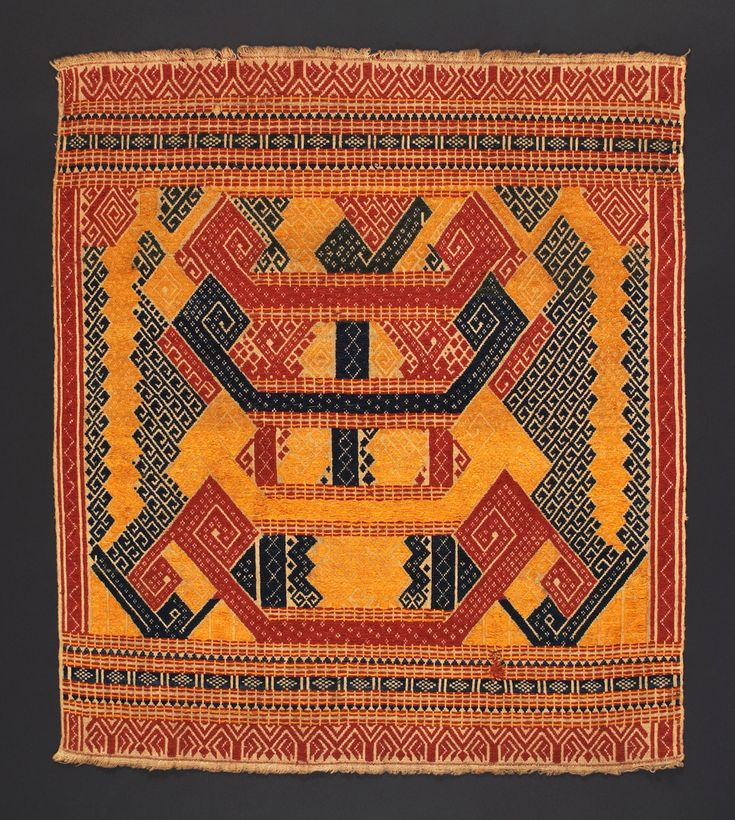 Set on Flickr-395 photos.  Tampan, Paminggir people. Sumatra 19th century, 58 x 66 cm. Kota Agung style. Photograph by D Dunlop. From the pattern library of WikiMechanics.org.