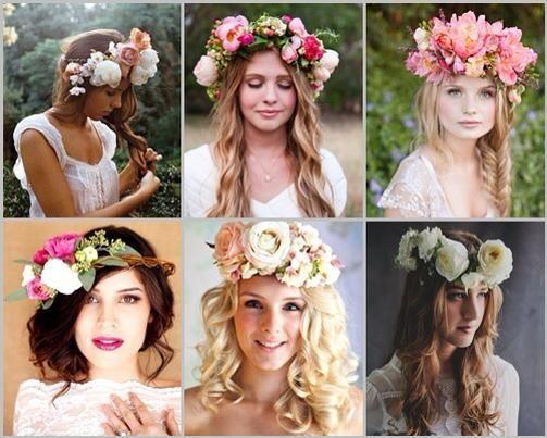 La corona de flores marca una fuerte tendencia para la temporada primavera-verano 2013-2014 y las novias no se quedan atrás! Hoy les mostramos coronas hechas de flores naturales, les gusta?