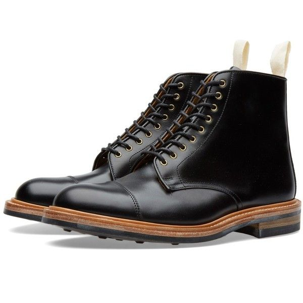 Trickers END. x Tricker's Toe Cap Boot (645 AUD) ❤ liked on Polyvore featuring men's fashion, men's shoes, men's boots, mens toe cap boots, mens brogue shoes, mens cap toe boots, mens brogue boots and trickers mens shoes