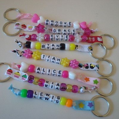 Personalised Bead Keyring