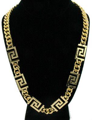 24k Versace Inspired Cuban Link Chain - 24k-Jewelry #