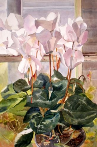 kay smith artist | ... Cyclamen, original painting by artist Kay Smith | DailyPainters.com