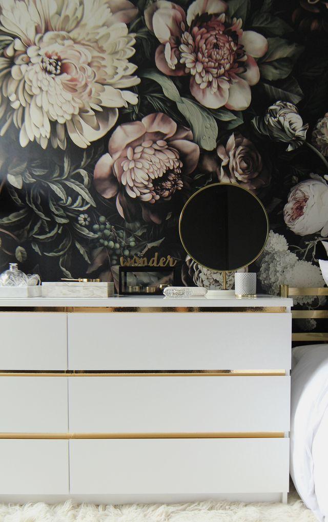 diy vintage style gold dresser preciously me ikea. Black Bedroom Furniture Sets. Home Design Ideas