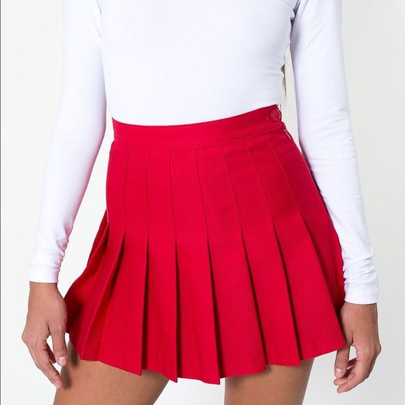 American Apparel Pleated Tennis Skirt Med For Sale In Portland Or Offerup In 2020 Pleated Skirt Short Red Pleated Skirt Outfit Red Pleated Skirt