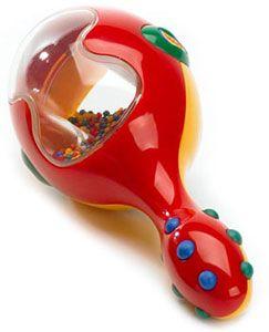 Gentle rattling sound. Easy grip handle. £8.99