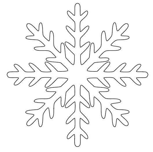 Раскраски трафареты Как вырезать снежинки