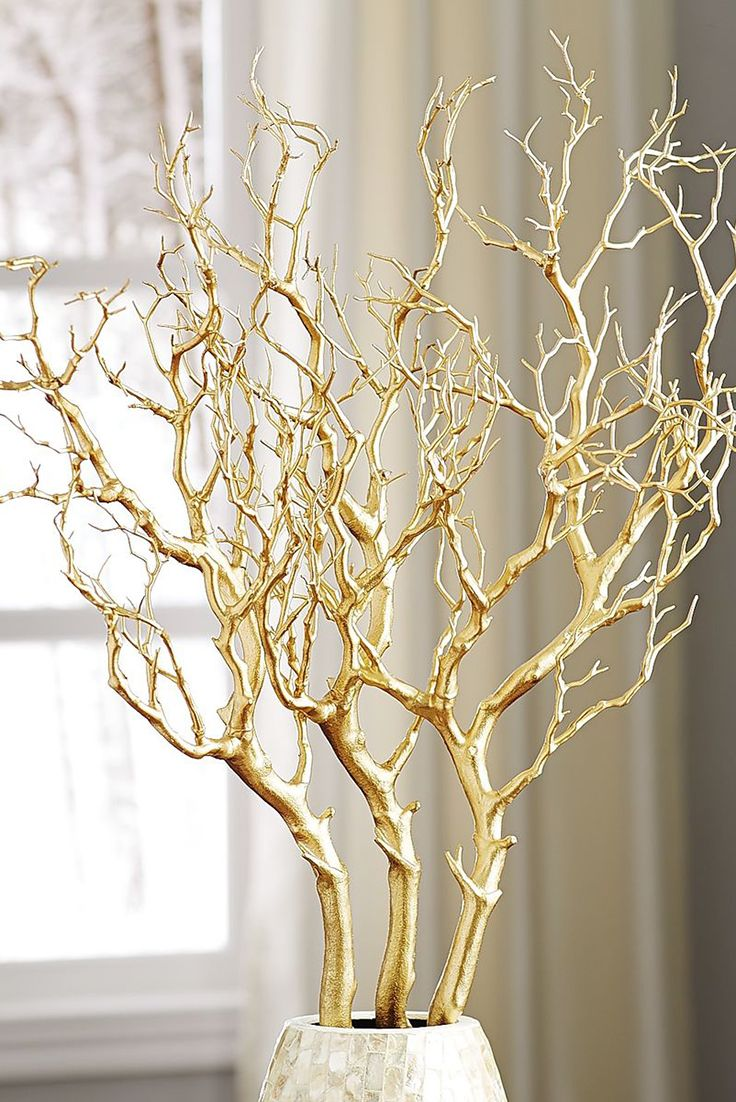 Metallic Gold Branch
