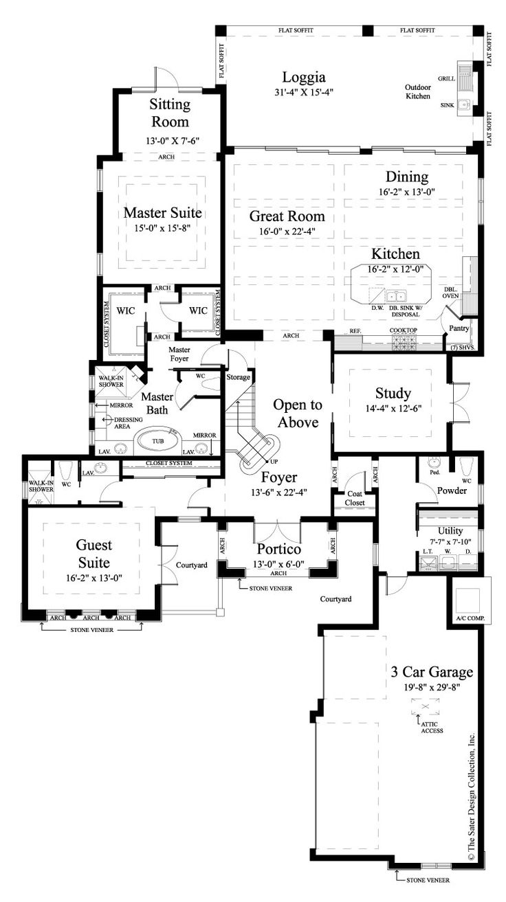 main level floor plan the sater design collections luxury tuscan home plan monterchi