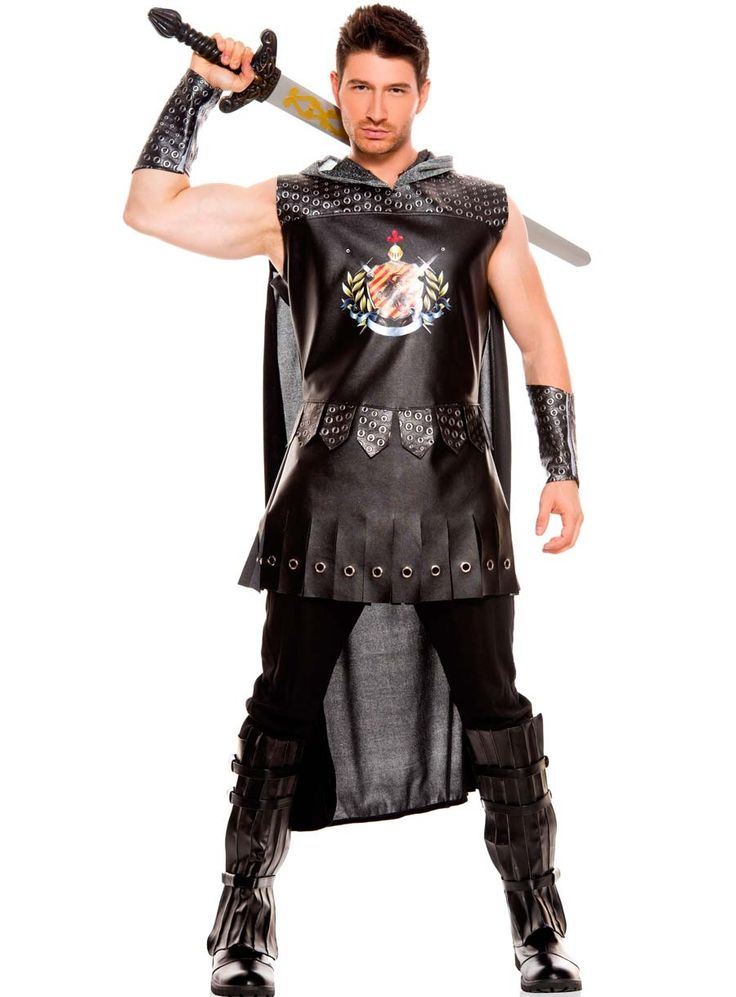 sexy music legs black menu0027s medieval warrior king knight roman gladiator solder party halloween costume