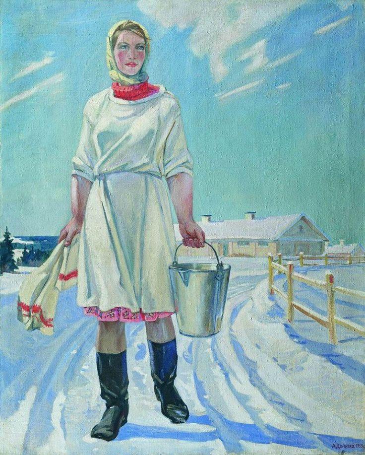 Александр Дейнека. «Доярка». 1959 г.