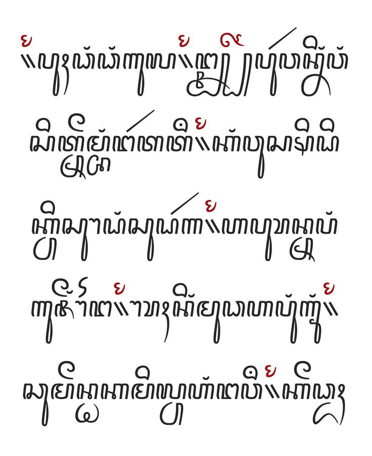 Opening passage of Serat Jayalengkara Wulang. Font created by Alteaven in Behance