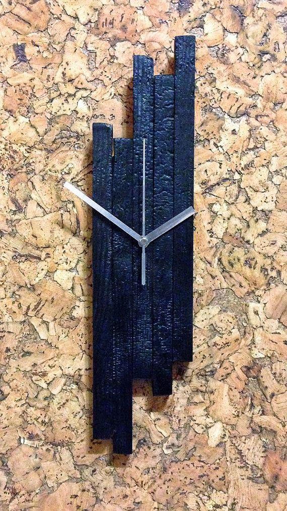 Настенные часы из дерева  wood clock от MJbeton на Etsy