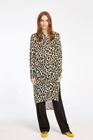 Samsoe & Samsoe Riss Leopard Print Shirt Dress | ATTIC WOMENSWEAR #SamsoeandSamsoe available at atticwomenswear.com