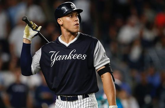 99 Days until Opening Day! @thejudge44  _________________________________________________________ #NYY #NewYorkYankees #BronxBombers #BabyBombers #AaronJudge #GarySanchez #wshh #daquan #GiancarloStanton #Re2pect #MLB #PinstripePride #Yankees #EvilEmpire #StartSpreadingTheNews #MLBHotStove