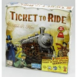 Ticket to ride. Here is a fun family friendly game.