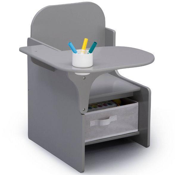 Delta Children Mysize Chair Desk With Storage Bin Gray In 2020 Desk Storage Delta Children Storage Bin