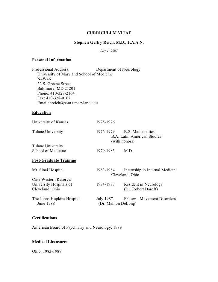 Neurology Medicine Resume Template - http://resumesdesign.com/neurology-medicine-resume-template/