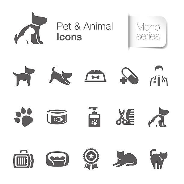 Pet Animal Related Icons Vector Art Illustration Pets Mind Map Design Cat Illustration