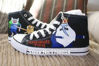 lovers shoes custom Adventure Time hand painted black canvas shoes http://it.aliexpress.com/store/product/Cartoon-anime-lovers-shoes-custom-Adventure-Time-hand-painted-black-canvas-shoes-men-women-high-top/1768014_32590227877.html
