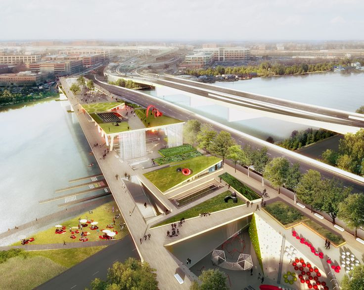 OMA + OLIN to bridge washington DC with city's first elevated park