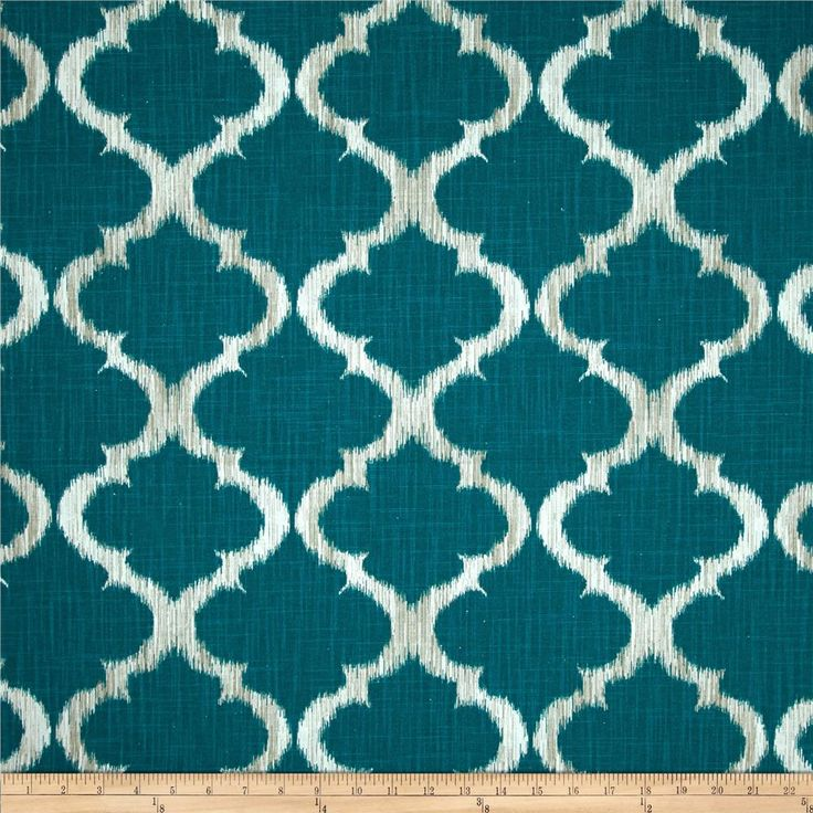 Richloom R Gallery Kobe Teal from @fabricdotcom  Screen printed on cotton, this versatile double slub (has vertical and horizontal slubs) duck fabric is medium/heavyweight. Perfect for window treatments (draperies, valances, curtains and swags), accent pillows, duvet covers, upholstery and other home decor accents. Colors include white, grey and teal.