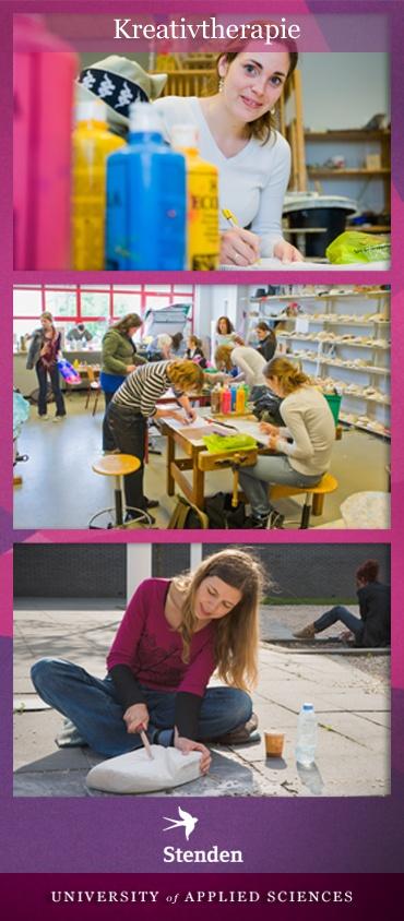 """Hier ein paar Eindrücke zu dem Studiengang """"Kreativtherapie"""". Weitere Infos gibt es unter http://www.fh-stenden.de/74,1,261,kreativtherapie_in_leeuwarden.html"""