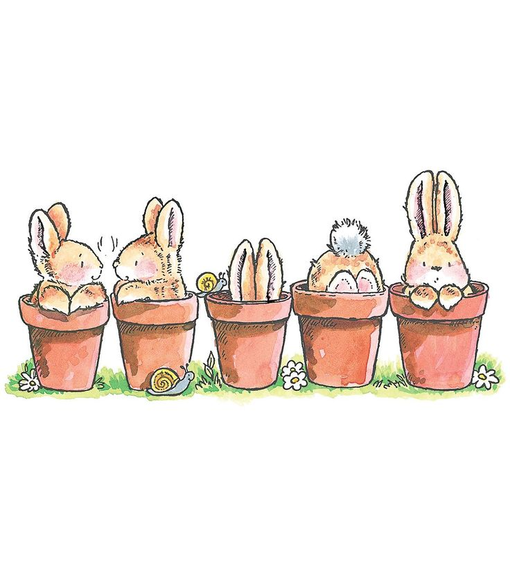 """Penny Black Rubber Stamp 2.5""""X5-Bunny Friends"""