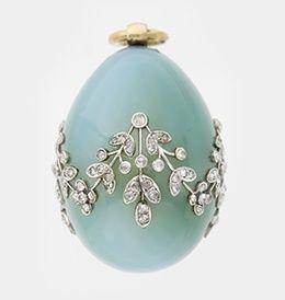 Stunning Faberge Egg Pendant