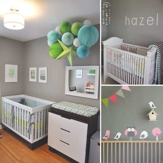Trendy Gray Nursery Ideas: Paper Lanterns, Baby Bump, Wall Color, Google Search, Nursery Ideas, Nursery Decor, Baby Rooms, Baby Stuff, Gray Nurseries