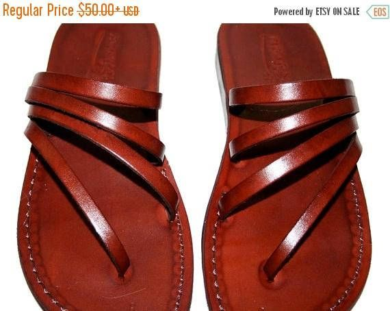 15% OFF Brown Rainbow Leather Sandals For Men & Women
