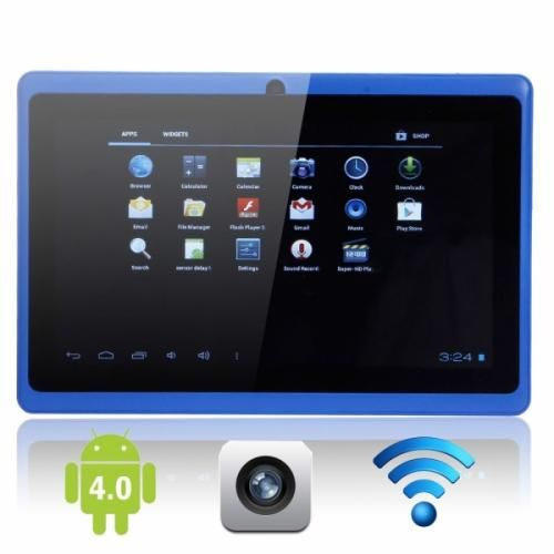 Android tablet PC blue.