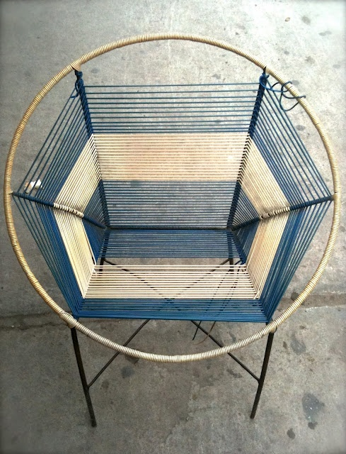 peruvian version of acapulco chair. I don't know that this is quite functional, but man, is it gorgeous!