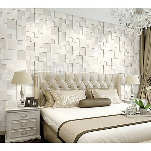 3D Wallpaper For Home Contemporary Wall Covering Non Woven Fabric Material Adhesive Required Room